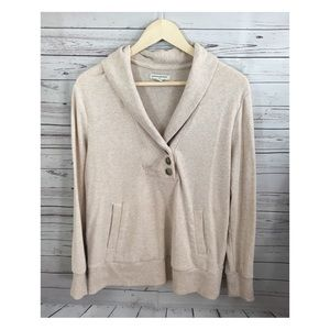 Banana Republic Beige Pullover Sweatshirt Sz Large